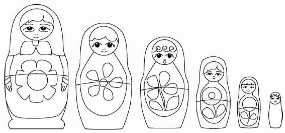 matroyshka dolls coloring pages - photo#21