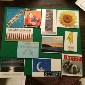 Sample affirmation cards that I have made